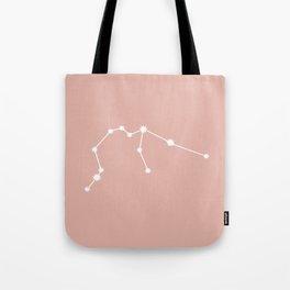 Aquarius Zodiac Constellation - Pink Rose Tote Bag