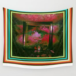 Vintage Paintig Abstract  Wall Tapestry