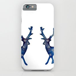 Winter Deer Snowflakes iPhone Case