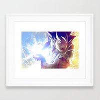 goku Framed Art Prints featuring Goku by MATT DEMINO