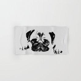 Pug dog Digital Art Hand & Bath Towel