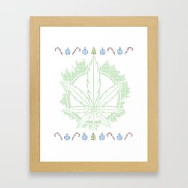 Weed Ugly Christmas - Be Hippie Always Framed Art Print