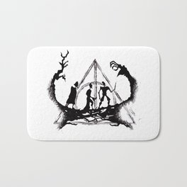 The Three Brothers Inktober Drawing Bath Mat