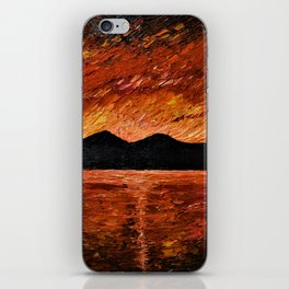 FIERY SUNSET AT MURLOUGH - Oil  Painting iPhone Skin