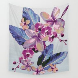 Tropical Vintage Plumerias Wall Tapestry