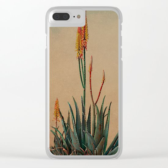 Blooming succulent. Clear iPhone Case