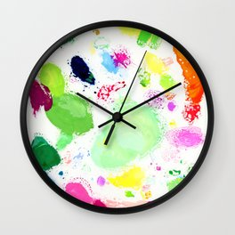 Messy Paint Palette Wall Clock