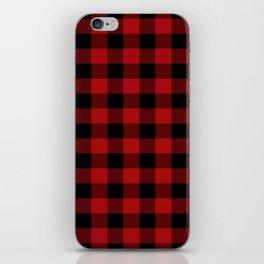 Red & Black Buffalo Plaid iPhone Skin