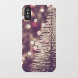 Seasons Greetings 1 -- Muted Soft Lights and Sparkle iPhone Case