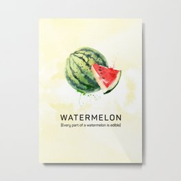 Fun with Fruits - Watermelon Metal Print