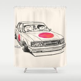 Crazy Car Art 0172 Shower Curtain