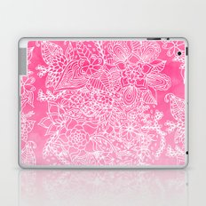 Modern girly floral pattern pink ombre watercolor pattern Laptop & iPad Skin
