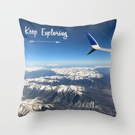 Travel for Adventure - Keep Exploring Throw Pillow