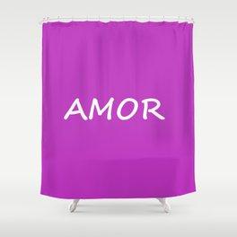 Amor, Spanish Love Shower Curtain
