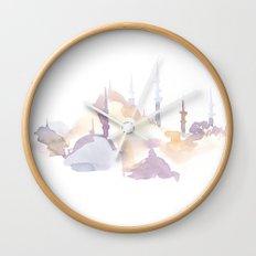 Watercolor landscape illustration_Istanbul - Saint Sophia Wall Clock