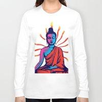 buddha Long Sleeve T-shirts featuring Buddha by famenxt