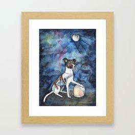 Our hero, Laika Framed Art Print