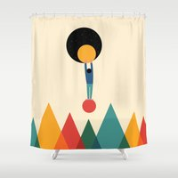 cycle Shower Curtains featuring Cycle by Andy Westface