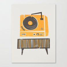Vinyl Deck Canvas Print