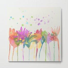 dp059-1 Watercolor flowers Metal Print