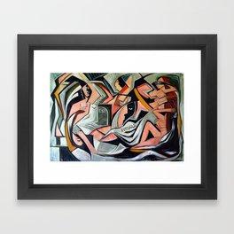 L'amour est Aveugle Framed Art Print
