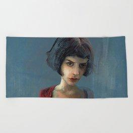 Amelie Poulain Beach Towel
