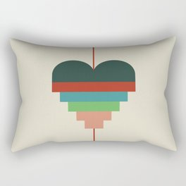 heart geometry Rectangular Pillow