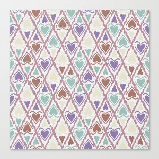 Favorite pattern . Brown and purple . Canvas Print
