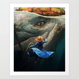 Shallan and the Santhid Art Print