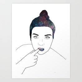 Galaxy Gal Art Print