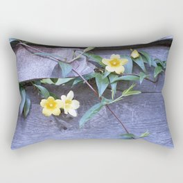 petite yellow flowers Rectangular Pillow