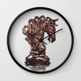 Knight Low Poly Wall Clock