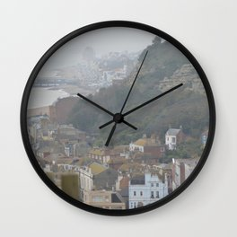 Mountainside-city Wall Clock