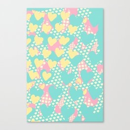 Smashed Pastel Icecreams Canvas Print