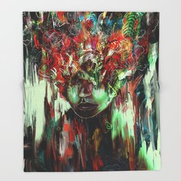 Chaotic Mind Throw Blanket