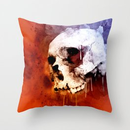 Cool Skull, Unique Best Skull Painting Throw Pillow