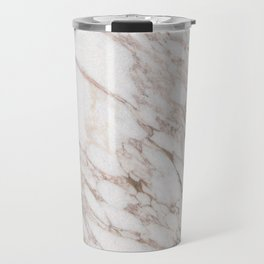 White Marble Carrara Calacatta Travel Mug