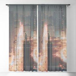 The Human Zoo Sheer Curtain