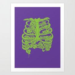 Zombie Kittehhhhhhhsssss Art Print