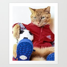 The Cat is #Adidas Art Print