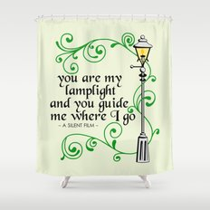 You Are My Lamplight (commission) Shower Curtain