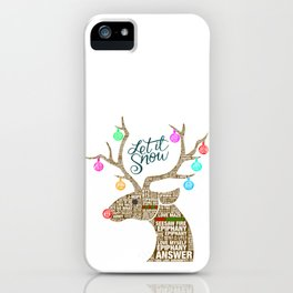 BTS Reindeer: Happy Christmas! iPhone Case