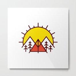 Sunrise Camp Metal Print