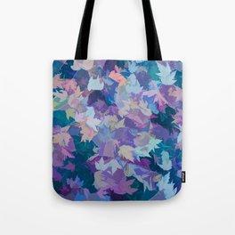 Autumn Leaves (blue, cyan, pink, orange, purple) Tote Bag