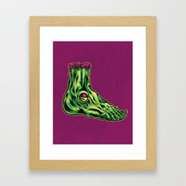 L is for Leprosy Leg Framed Art Print