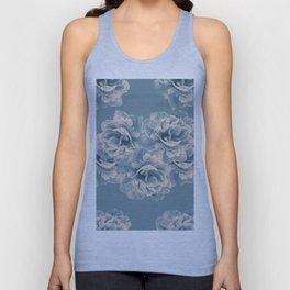Blush Blue Peony Flower Bouquet #1 #floral #decor #art #society6 Unisex Tank Top