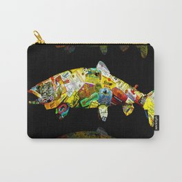 FATHER  LIKES FISH AND BOURBON POP ART Carry-All Pouch