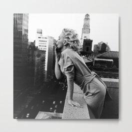 Marilyn Breath Metal Print