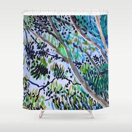 Eucalyptus Swirl Shower Curtain