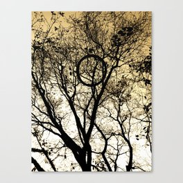 Tree & Tire Canvas Print